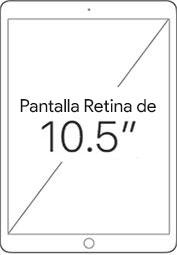 Pantalla Retina de 10.5 pulgadas