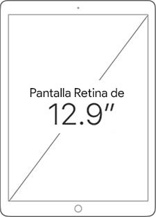 Pantalla Retina de 12.9 pulgadas
