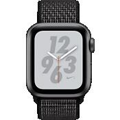 Reloj Apple® Watch Nike+ Serie 4, caja de aluminio gris espacial de 40 mm con correa deportiva Nike en negro