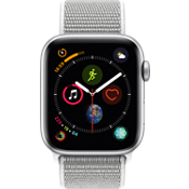 Reloj Apple® Watch Serie 4 GPS + móvil, caja de aluminio color plata de 44 mm con correa deportiva color nácar