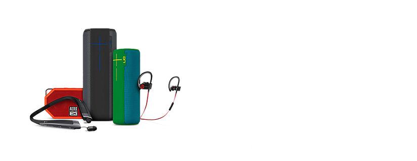 Disfruta de tu música y llamadas, estés donde estés, con los altavoces y audífonos inalámbricos