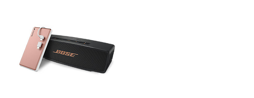 Concéntrate en el altavoz Bluetooth Bose® SoundLink® Mini II, mophie powerstation® plus 6000