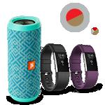 Altavoz Bluetooth JBL Flip 3 resistente a las salpicaduras y pulsera de entrenamiento Fitbit Charge 2