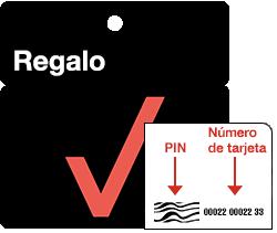 Busca el número de tarjeta de regalo y el PIN en el reverso de la tarjeta.