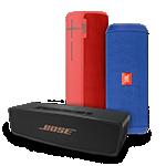 Comprar altavoces inalámbricos, incluyendo Bose SoundLink Mini II, JBL Flip 3 y UE BOOM 2.