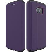 Estuche tipo billetera Evo Frame para Samsung Galaxy S 6 Edge - Púrpura