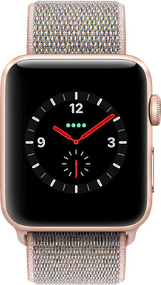 Reloj Apple® Watch Series 3, 42 mm, caja de aluminio con correa deportiva