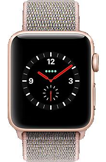 Reloj Apple® Watch Serie 3, 42 mm, caja de aluminio con correa deportiva