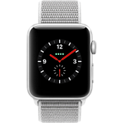 Reloj Apple® Watch Series 3, 42mm, caja de aluminio plateado con correa deportiva caracol