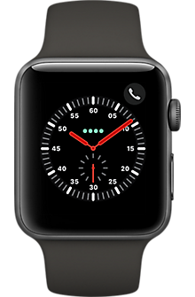 Apple® Watch Serie 3, 42 mm, aluminio - correa deportiva