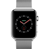 Reloj Apple® Watch Serie 3, 42 mm, caja de acero inoxidable con correa Milanese