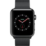 Reloj Apple® Watch Series 3 con caja de acero inoxidable de 42 mm y correa Milanese