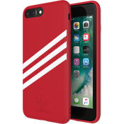 Carcasa de gamuza adidas Originals Gazelle para el iPhone 8 Plus/7 Plus/6s Plus/6 Plus - Rojo/Blanco