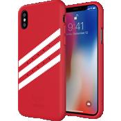 Carcasa de gamuza adidas Originals Gazelle para el iPhone X - Rojo/Blanco