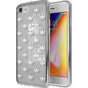 Carcasa adidas Originals Trefoil Clear para el iPhone 7/8 - Transparente/Plateado