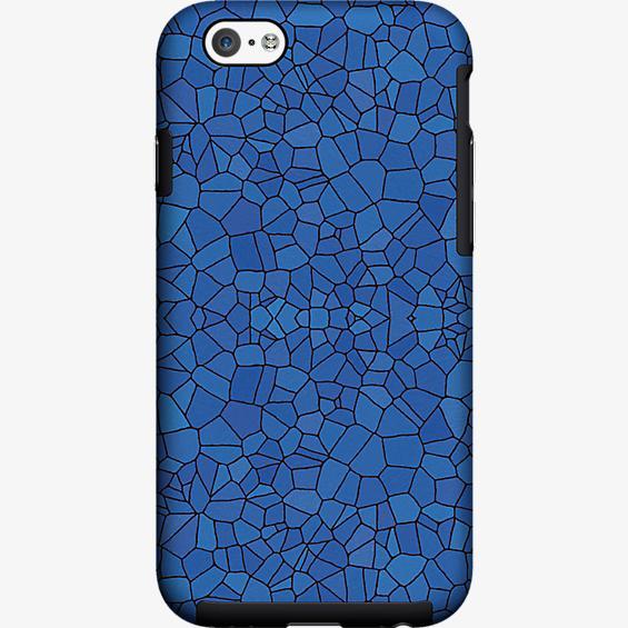 Estuche con diseño de mosaicos en azul para iPhone 6/6s
