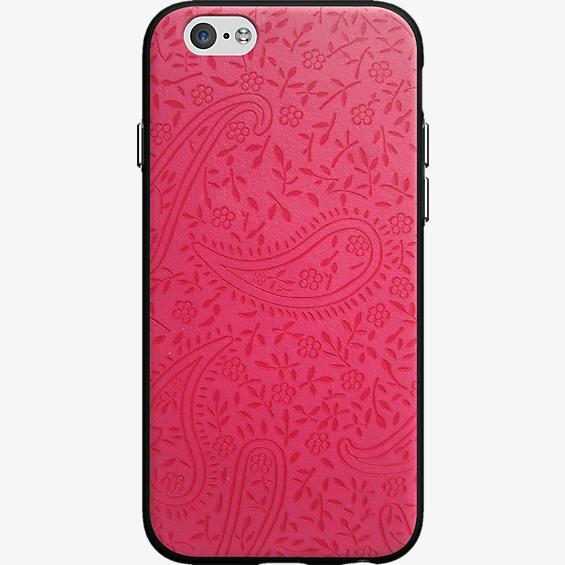 Estuche con diseño de flores en rosado para iPhone 6/6s