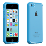 Protector transparente con borde azul Verizon para iPhone 5c