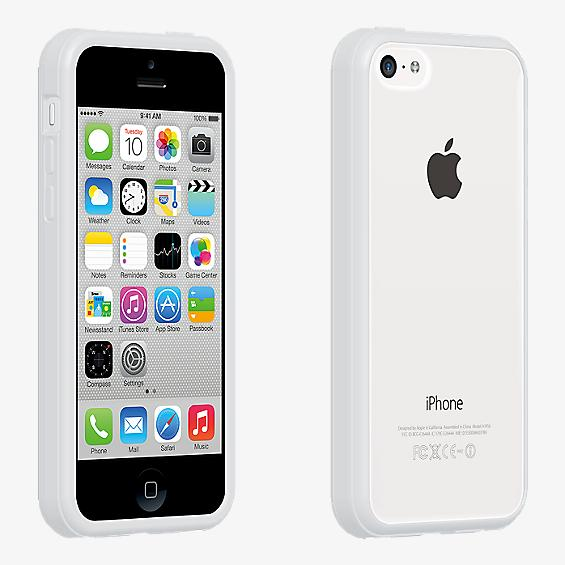 Protector transparente con borde blanco para el iPhone 5c