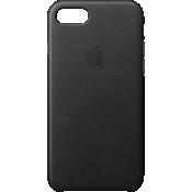 Estuche de piel para iPhone 7 - Negro