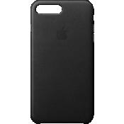 Estuche de piel para iPhone 8 Plus/7 Plus - Negro