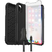 Paquete de protector Otterbox Symmetry, protector de pantalla y cargador para el iPhone XS/X