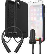 Paquete de protector Otterbox Symmetry, protector de pantalla y cargador con auricular para el XS/X