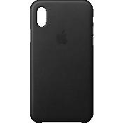 Estuche de piel para iPhone X - Negro