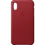 Estuche de piel para iPhone X - (PRODUCT) RED