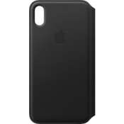 Estuche tipo billetera de piel para el iPhone XS Max - Negro
