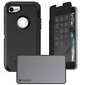 Paquete de cargador y protección Defender para iPhone 7