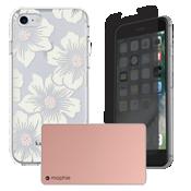 Paquete de cargador y protección Hollyhock para iPhone 7