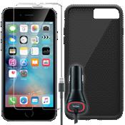 Paquete de protección texturada para el iPhone 7 Plus - Negro