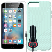Paquete de protección texturada para el iPhone 7 Plus - Color Mint