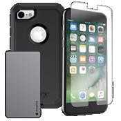 Paquete de cargador y protección OtterBox Defender para iPhone 8