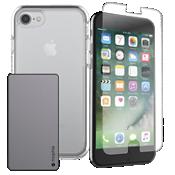 Paquete de cargador y protección OtterBox Symmetry para iPhone 8