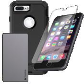 Paquete de cargador y protección OtterBox Defender para iPhone 8 Plus