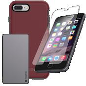 Paquete de cargador y protección OtterBox Symmetry para iPhone 8 Plus