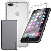 Paquete de cargador y protección Speck Presidio para iPhone 8 Plus