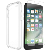 Paquete de protector Presidio Clear para iPhone 8