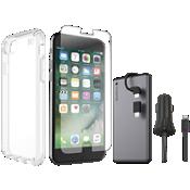 Paquete de carga y protector Presidio Clear para iPhone 8