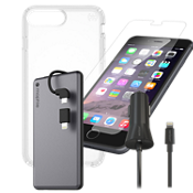 Paquete de carga y protector Presidio Clear para iPhone 8 Plus
