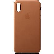 Estuche de piel para el iPhone XS - Saddle Brown