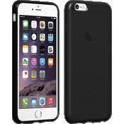 Estuche de silicona brillante para iPhone 6 Plus/6s Plus - Negro