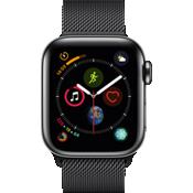 Reloj Apple® Watch Serie 4, caja de acero inoxidable de 40 mm con correa Milanese en color negro espacial