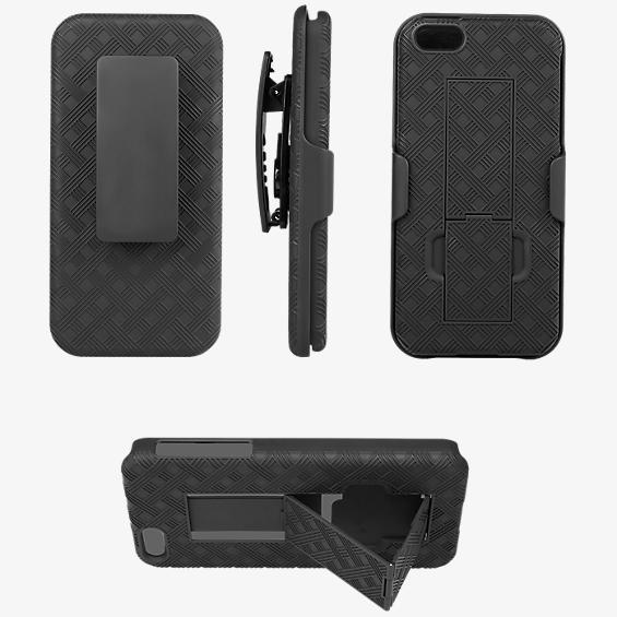 Paquete combinado de funda/protector con pie de apoyo para iPhone® 5/5s/SE