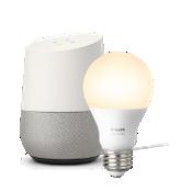 Paquete básico Hue de iluminación blanca y Google Home