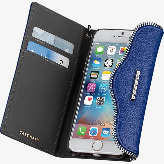 Estuche tipo billetera con pulsera para iPhone 6/6s