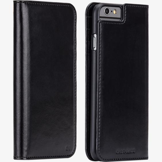 Estuche tipo billetera folio para iPhone 6/6s - Negro