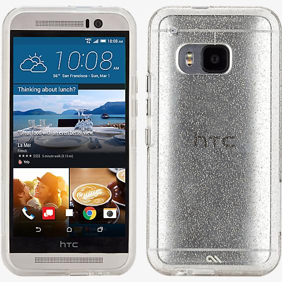 Estuche Sheer Glam para HTC One M9 - Champaña